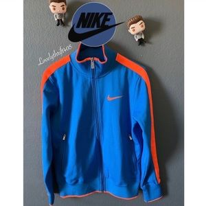 Nike Men's Windrunner Blue and Orange Jacket
